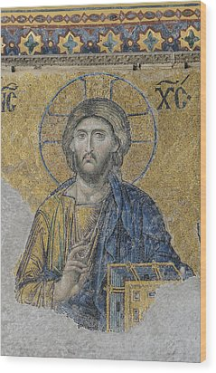 Jesus Christ In Istanbul Turkey Wood Print