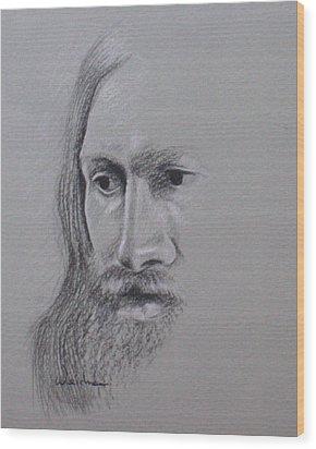 Jesus Wood Print by Kathy Weidner