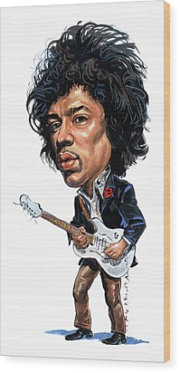 Jimi Hendrix Wood Print by Art