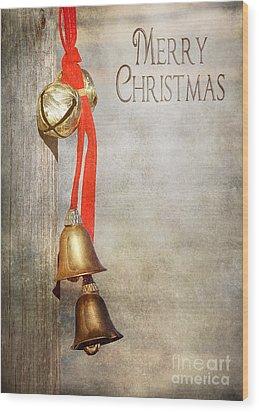 Jingle Bells Wood Print by Cindy Singleton
