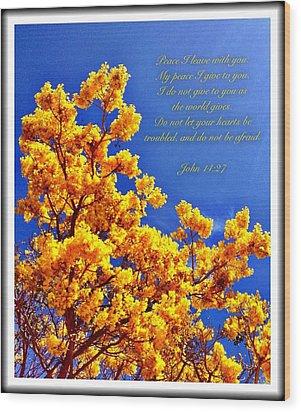 John 14 27 Wood Print
