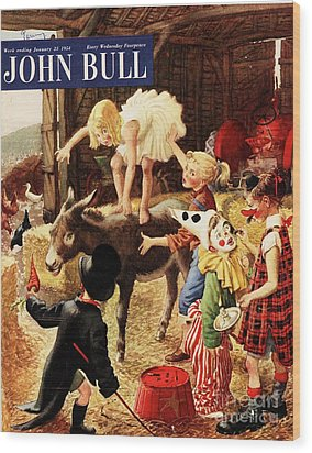 John Bull 1950s Uk Dressing Up Fancy Wood Print by The Advertising Archives