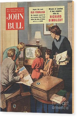 John Bull 1950s Uk Holidays Weather Wood Print by The Advertising Archives