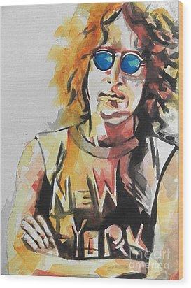 John Lennon 04 Wood Print
