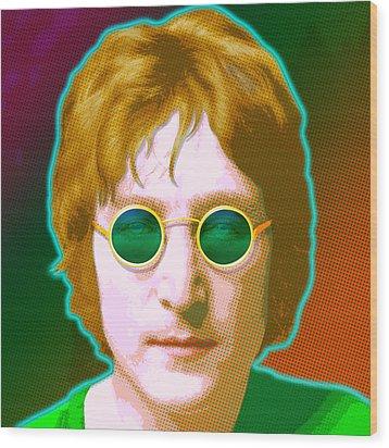 John Lennon Wood Print by Gary Grayson