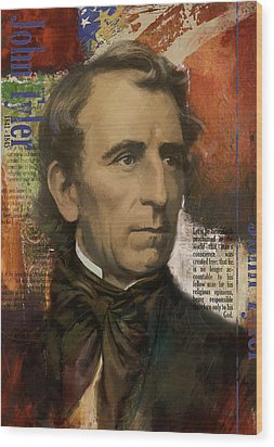 John Tyler Wood Print by Corporate Art Task Force