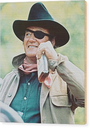 John Wayne In True Grit  Wood Print by Silver Screen