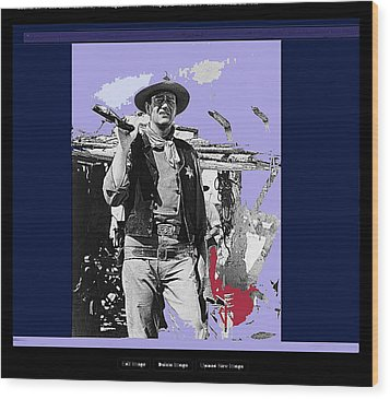 John Wayne Rio Bravo Publicity Photo 1959 Old Tucson Arizona Wood Print by David Lee Guss