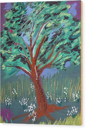 Johnny Appleseed Wood Print by Randy Ross