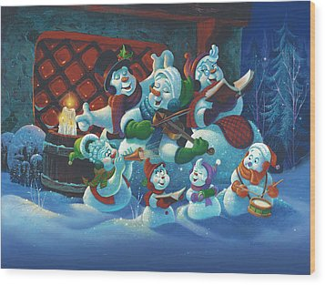 Joy To The World Wood Print by Michael Humphries
