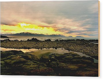 Wood Print featuring the photograph Kaikoura Coast New Zealand by Amanda Stadther