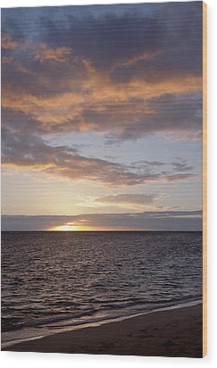 Kailua Sunset Wood Print by Brandon Tabiolo