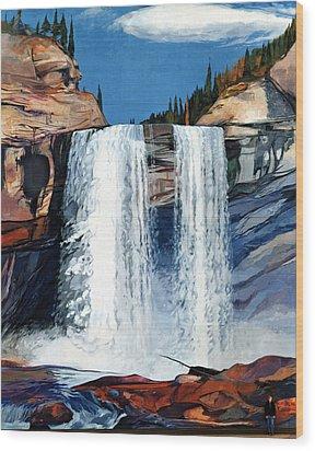 Kakwa Falls Mural Wood Print