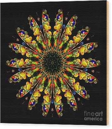 Kaleidoscope Of Blown Glass Wood Print by Amy Cicconi
