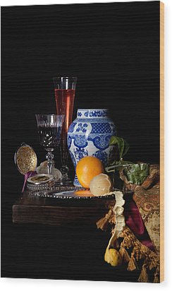 Kalf - Still Life With A Chinese Porcelain Jar  Wood Print by Levin Rodriguez