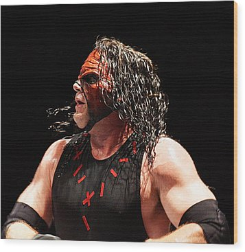 Kane The Wrestler Wood Print