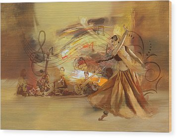Kathak Dancer 4 Wood Print