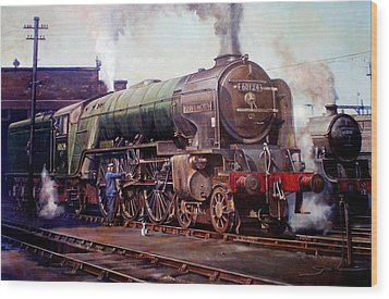 Kenilworth On Shed. Wood Print by Mike  Jeffries