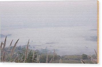 Khao Kho Wood Print by Gornganogphatchara Kalapun