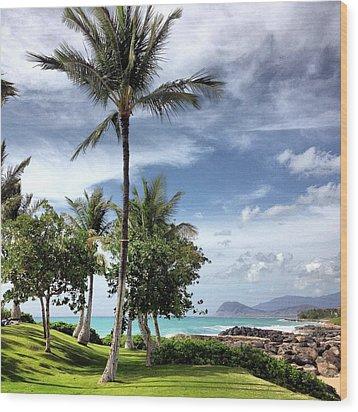 Ko Olina Lagoon Wood Print