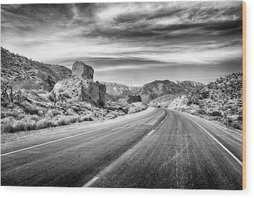 Kyle Canyon Road Wood Print by Howard Salmon