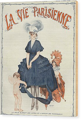 La Vie Parisienne 1916 1910s France Wood Print by The Advertising Archives