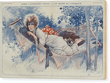 La Vie Parisienne 1920s France Maurice Wood Print by The Advertising Archives