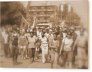 Labor Day Parade Wood Print by Valentino Visentini