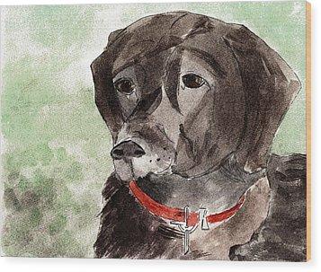Labrador Retriever Wood Print by Elizabeth Briggs