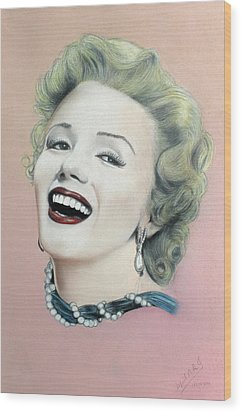 Lady In Pink Finished Wood Print by Miguel Rodriguez