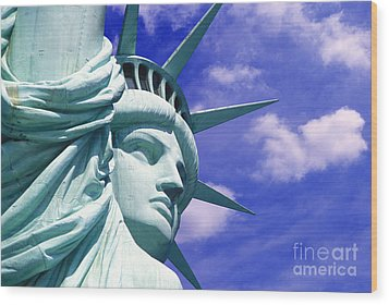 Lady Liberty Wood Print by Jon Neidert