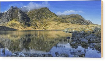 Lake Idwal Wood Print by Ian Mitchell