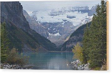 Lake Louise In Fall Wood Print