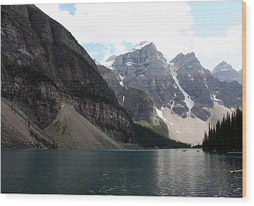 Lake Moraine Wood Print by Carolyn Ardolino
