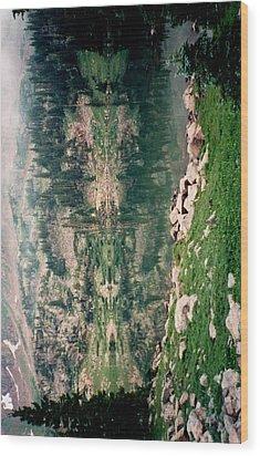 Lake Reflection Sideways Wood Print