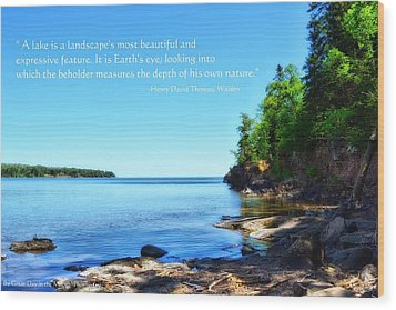 Lake Superior Wood Print by Michelle and John Ressler
