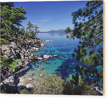 Lake Tahoe Swimming Hole Wood Print