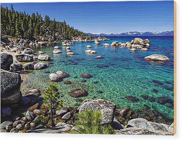 Lake Tahoe Waterscape Wood Print
