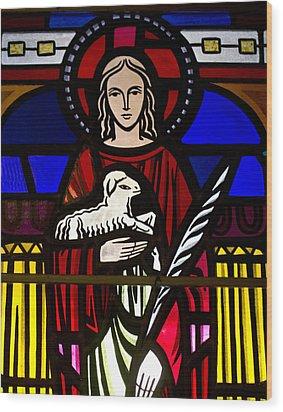Lamb Of God  Wood Print by Dee  Savage