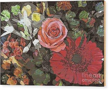 Wood Print featuring the digital art Lancaster Flowers by Joseph J Stevens