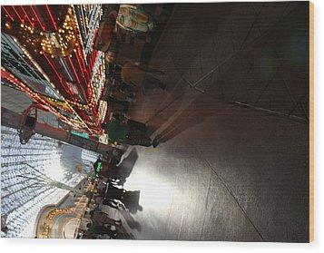 Las Vegas - Fremont Street Experience - 121210 Wood Print by DC Photographer