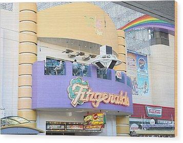 Las Vegas - Fremont Street Experience - 12122 Wood Print by DC Photographer