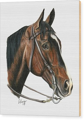 Lava Man Wood Print