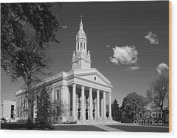 Lawrence University Memorial Chapel Wood Print by University Icons