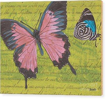 Le Papillon 2 Wood Print by Debbie DeWitt