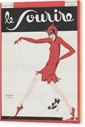 Le Sourire 1930s  France Glamour Wood Print by The Advertising Archives