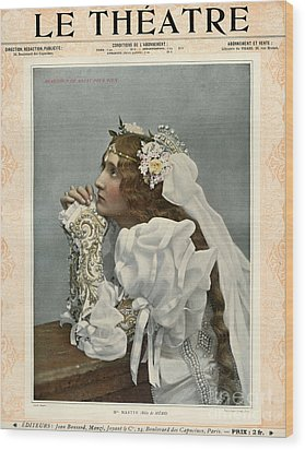Le Theatre 1899 1890s France Magazines Wood Print by The Advertising Archives