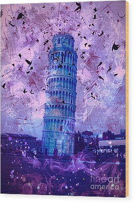 Leaning Tower Of Pisa 2 Wood Print