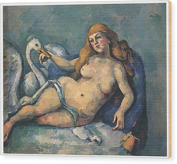 Leda And The Swan Wood Print by Paul Cezanne