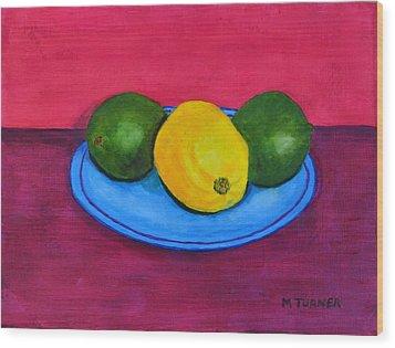 Lemon Or Lime Wood Print by Melvin Turner